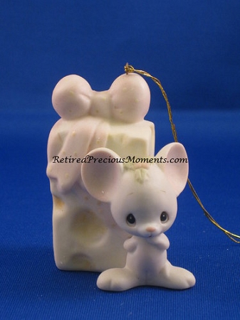 Mouse With Cheese Precious Moment Ornament