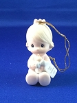 Baby's First Christmas 1985 (Girl) - Precious Moment Ornament