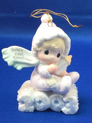 Baby's First Christmas 2003 (Girl) - Precious Moment Ornament