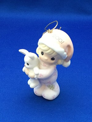 Baby's First Christmas 2001 (Girl) - Precious Moment Ornament