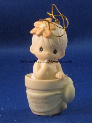 Baby's First Christmas 1997 (Boy) - Precious Moment Ornament