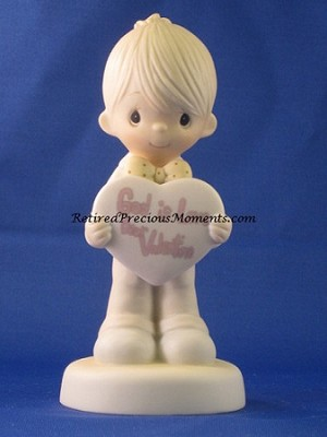 God Is Love, Dear Valentine (Boy) - Precious Moment Figurine