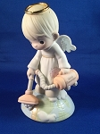 With A Little Help From Above - Precious Moment Figurine - *AUTOGRAPHED*