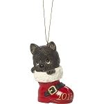 Have A Pawsitively Soleful Christmas - Dated 2017 -  Precious Moment Ornament