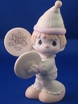 A Smile's The Cymbal Of Joy - Precious Moment Figurine