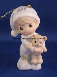 Baby's First Christmas 2001 (Boy) - Precious Moment Ornament