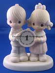 God Blessed Our Year Together With So Much Love And Happiness - Precious Moment Figurine