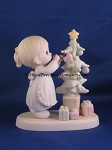 God Cared Enough To Send His Best - Precious Moment Figurine