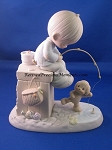 Just A Line To Wish You A Happy Day - Precious Moment Figurine
