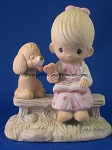 Loving Is Sharing (Girl)- Precious Moment Figurine