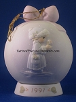 May Your Christmas Be Merry - 1991 Precious Moment Ball Ornament