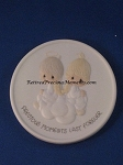Precious Moments Last Forever - Porcelain Medallion