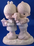 Puppy Love Is From Above - Precious Moment Figurine
