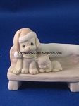 Dog & Kitten on Bench - Precious Moment Figurine