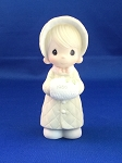 Wishing You A Cozy Christmas - 1986 Precious Moment Figurine