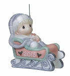 Baby's First Christmas 2015 (Boy) -  Precious Moment Ornament