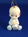 Baby's First Christmas 1985 (Boy) - Precious Moment Ornament