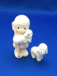 Shepherd with Sheep  - Precious Moment Mini Figurine