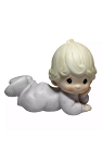 Baby Girl Lying Down - Precious Moment Figurine