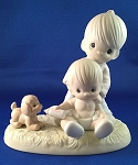 Baby's First Pet - Precious Moment Figurine