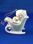 Baby's First Christmas 1989 (Girl) - Precious Moments Ornament