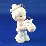 Happy Trails Is Trusting Jesus - Precious Moment Ornament
