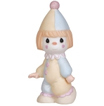Birthday Train Clown Conductor - Bless The Days Of Our Youth - Precious Moment Figurine