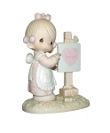 Loving You Dear Valentine (Girl) - Precious Moment Figurine