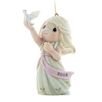 Blessings Of Peace To You  - Dated Annual 2008 Precious Moment Ornament