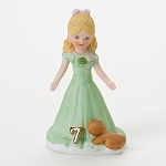 Enesco Growing Up Girls Blonde Age 7 Birthday Girl Figurine