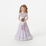 Enesco Growing Up Girls Brunette Age 8 Birthday Girl Figurine