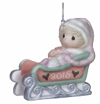 Baby's First Christmas 2015 (Girl) -  Precious Moment Ornament