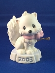 Bright Eyed & Bushy Tailed - Dated Annual 2003 Precious Moment Ornament