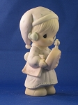 Time To Wish You A Merry Christmas - 1988 Precious Moment Figurine