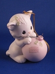 Wishing You A Purr-fect Holiday - Precious Moment Ornament