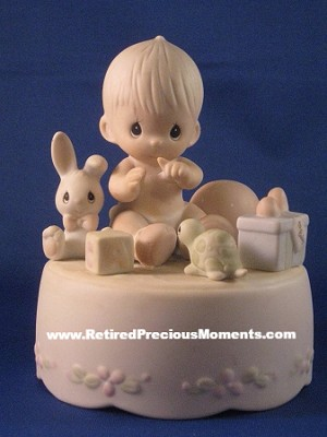 Heaven Bless You (Musical) - Precious Moment Figurine