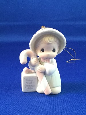 Baby's First Christmas 1986 (Girl) - Precious Moment Ornament
