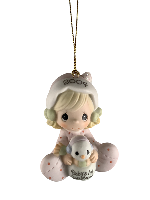 Baby's First Christmas 2004 (Girl) - Precious Moment Ornament