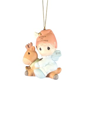 Baby's First Christmas 2012 (Boy) - Precious Moment Ornament