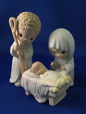 Come Let Us Adore Him (Three-Piece Nativity) - Precious Moment Figurines