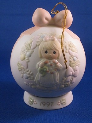 Cane You Join Us For A Merry Christmas - 1997 Precious Moment Ball Ornament