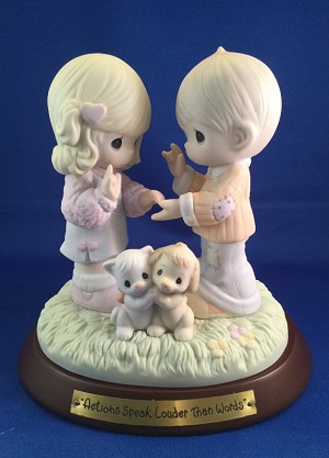 Actions Speak Louder Than Words - Precious Moment Figurine