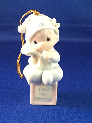 Baby's First Christmas 1998 (Boy) - Precious Moment Ornament