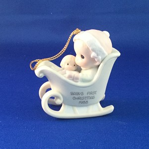 Baby's First Christmas 1988 (Girl) - Precious Moment Ornament