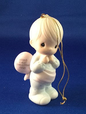 Baby's First Christmas 1993 (Boy) - Precious Moment Ornament