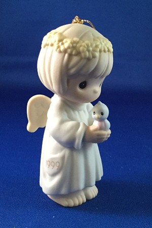 May Your Wishes For Peace Take Wing- Dated Annual 1999 Precious Moment Ornament