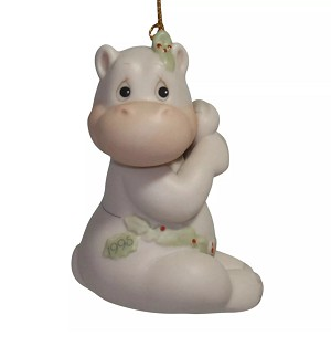Hippo Holly Days - Dated Annual 1995 Precious Moment Ornament
