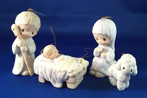 Come Let Us Adore Him - Precious Moment Ornaments
