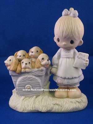 God Loveth a Cheerful Giver - Precious Moment Figurine