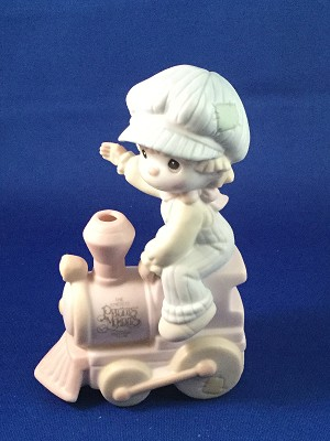 All Aboard For Birthday Club Fun - Precious Moment Figurine